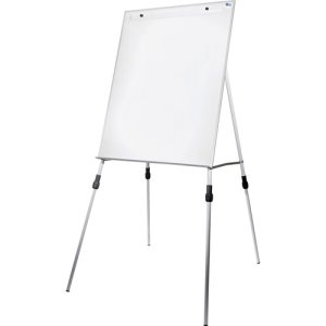"Flipside Dry-Erase Easel, Adjustable Legs, 46"" x 29.5"", White, Each (FLP51000)"