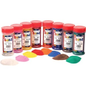 Hygloss Colored Craft Sand Assortment, 1 lb Canisters, 12 Canisters (HYX29129)
