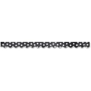 Creative Teaching Press Chalkboard Border, White Dots/Black, Each (CTC02221)