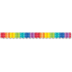 "Creative Teaching Press Herringbone Border, 2""x35', Rainbow (CTC01871)"