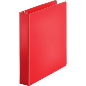 "Business Source Binder, Round Rings, 8-1/2""x11"" Red, 4/BD (BSN28553BD)"