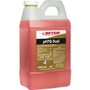 Betco pH7Q Dual Neutral Disinfectant, Lemon, 2 Liter Bottle, Each (BET3554700)