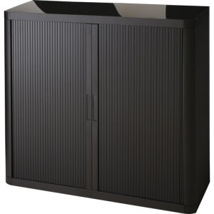 "Paperflow Storage Cabinet, 43-1/3""x16-1/3""x41"", Black, 1 Each (PPR366014192344)"