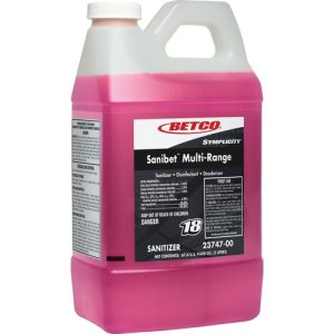 Betco Sanitizer, Concentrated, FastDraw, 1 Gal, 4/CT, Pink (BET2374700)