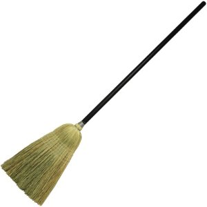"Genuine Joe Corn Blend Janitor Broom, Wood, 56"", BK/NAT, 6 Brooms (GJO58564)"