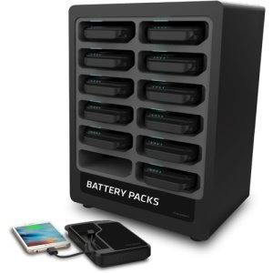ChargeTech Docking Station w/12 Batteries, Black, 1 Each (CRGCT300041)