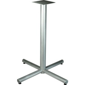 "Lorell X-Leg Base,f/36"" Tabletop,Bistro-Height,32""x40-3/4"",Silver (LLR34431)"