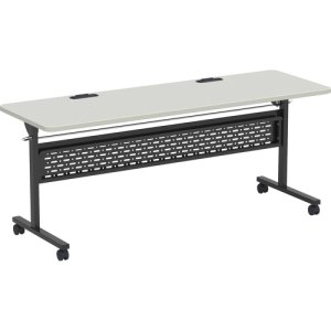 "Lorell Training Table, Flip Top, 72""x24""x30, Gray/Black (LLR62592)"
