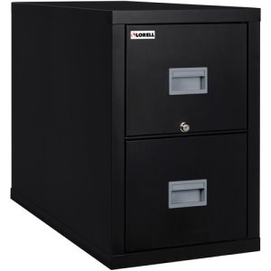 "Lorell File Cabinet, 2-Drawer, 17-3/4""Wx25-7/10""Dx27-3/4""H, Black (LLRL2P1825CBL)"