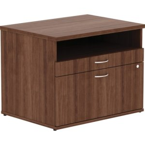 "Lorell File Cabinet Credenza, Open Shelf, 29-1/2""x22""x23-1/8"", WT (LLR16231)"