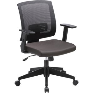 Lorell Mid-Back Task Chair, 24-1/2 x 25-1/4 x 42-1/2, Black (LLR41842)
