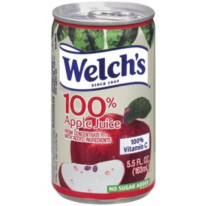 Welch's Apple Juice, 100% Fruit Juice, 5.5 oz, 48/CT, MI (WEL28300)