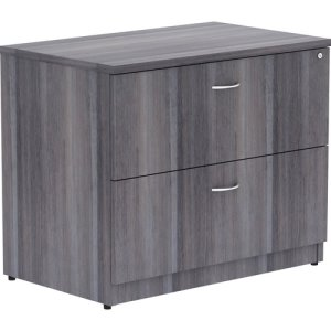 "Lorell Lateral File, Anti-Tip, 35""X22""X29-1/2"", Weathered Charcoal (LLR69563)"