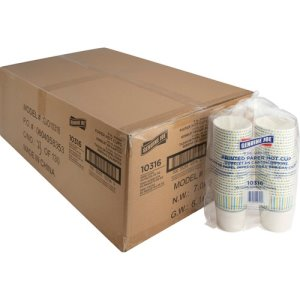 Genuine Joe Paper Hot Cups, 8 oz., Disposable, 1000 Cups (GJO10316CT)