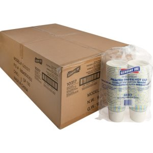 Genuine Joe Paper Hot Cups, 10oz., Disposable, 1000 Cups (GJO10317CT)