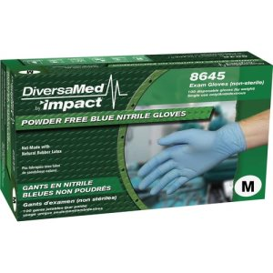 DiversaMed Exam Gloves, Nitrile, Powder-Free, Medium, 1000/Ct, Be (DVM8645MCT)