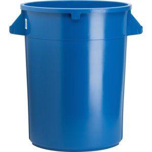 Genuine Joe Trash Containers, Heavy-Duty, 32 Gallon, 6/Ct, Blue (GJO60464CT)