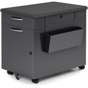 Lorell Chester File & Storage Cabinet, w/Top Cushion, Black (LLR01929)