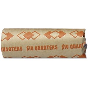 ICONEX Coin Wrappers,Tubular,Quarters,10 Dollars/Wrap,1000/Ct,Oe (ICX94190093)