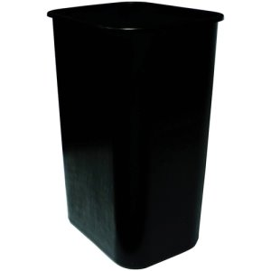 Genuine Joe Wastebasket, 41 Quart, Black, Each (GJO00061)