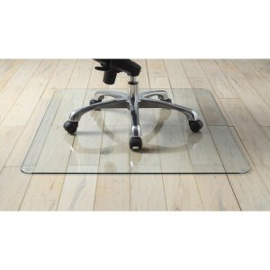 "Lorell Chairmat, Tempered Glass, 46""Wx36""Lx1/4""H, 40/Pl, Clear (LLR82833PL)"