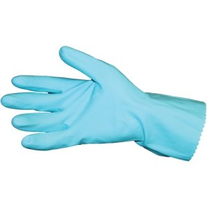 Value-Plus Flock Lined Latex Gloves, Large, Blue, 144 Pairs (IMP8418LCT)