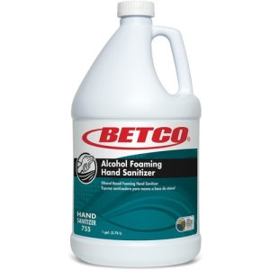 Betco Hand Sanitizer, Foam, Alcohol, 1 Gallon, Light Blue (BET7550400)