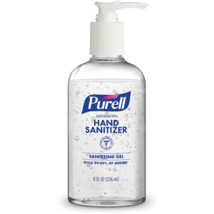 PURELL Advanced Hand Sanitizer Gel, 8 oz, Round Pump Bottle, Each (GOJ404012S)