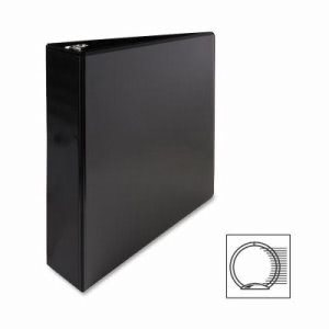 "Sparco Round Ring View Binder, 2""Capacity,11""x8-1/2"", Black (SPR68020)"