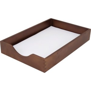 Carver Wood Desk Tray, Legal Size, Walnut, 1 Each (CVRCW07222)