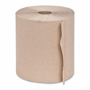 Genuine Joe Embossed Hardwound Roll Towels, Natural, 6 Rolls (GJO22600)