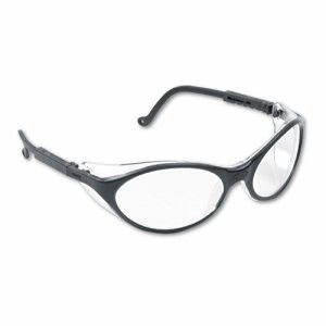 Uvex Bandit Wraparound Safety Glasses, Black Nylon Frame, Clear Lens (UVXS1600)