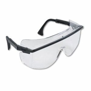 Uvex Astro OTG 3001 Wraparound Safety Glasses, Black Frame (UVX S2500)