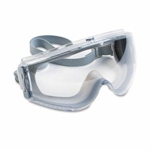 Uvex Stealth Anti-Fog Safety Goggles, Clear Lens, Gray Frame (UVX S3960C)