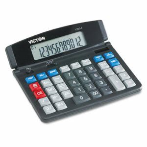 Victor 1200-4 Business Desktop Calculator, 12-Digit LCD (VCT12004)