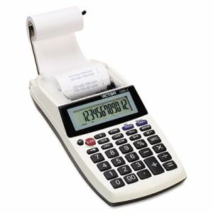 Victor Palm/Desktop  1-Color Printing Calculator, 12-Digit LCD, Black (VCT12054)