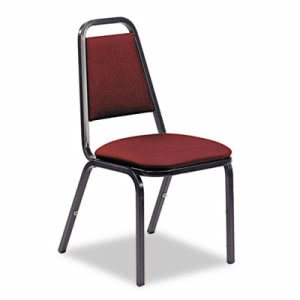 Virco Vinyl Upholstered Stacking Chair, Wine, 4 Chairs (VIR48926E38D8)