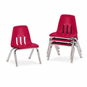 "Virco 9000 Series Classroom Chairs, 10"" Seat Height, 4/Carton (VIR901070)"