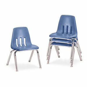 "9000 Series Chairs, 12"" Seat Height, Blueberry/Chrome, 4 Chairs (VIR901240)"