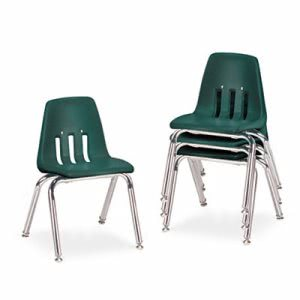 "9000 Series Classroom Chairs, 14"" Seat Height, 4 Chairs (VIR901475)"