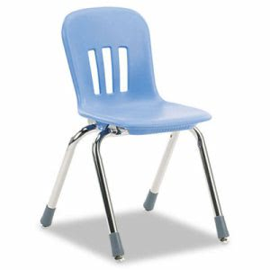 "Virco Metaphor Classroom Chair, 14-1/2"" Seat Height, Blueberry/Chrome, 5/Carton (VIRN914BLU40CHM)"