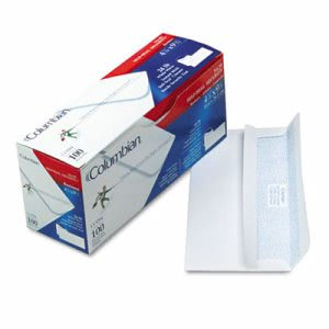 Self-Seal Business Envelopes with Security Tint; #10, 100 per Box (QUACO284)