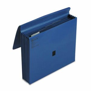 Wilson Jones ColorLife 5 1/4 Inch Expansion File, Five Pockets, Letter, Dark Blue (WLJ23271)