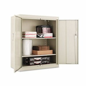 "Alera Assembled 42"" High Storage Cabinet, w/ Adjustable Shelves, 36w x 18d, Putty (ALECM4218PY)"