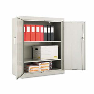 "Alera Assembled 42"" High Storage Cabinet, w/ Adjustable Shelves, Light Gray (ALECM4218LG)"