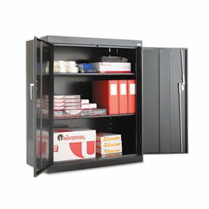 "Alera Assembled 42"" High Storage Cabinet, w/ Adjustable Shelves, 36w x 18d, Black (ALECM4218BK)"
