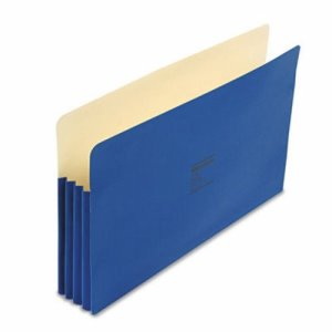 "Wilson Jones 3 1/2"" Expansion Pocket, Straight Tab, Blue, 25 per Box (WLJ74BL)"