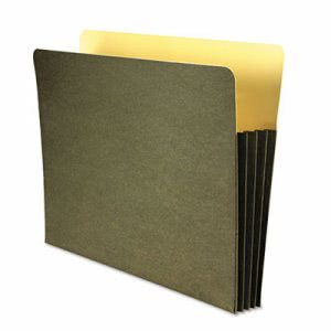 "Wilson Jones 3 1/2"" Expanding File Folder, Letter, Green (WLJWCC68RG)"