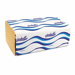 Windsoft 106 Singlefold Hand Towels, 1-Ply, Brown, 4,000 Towels (WIN 106)