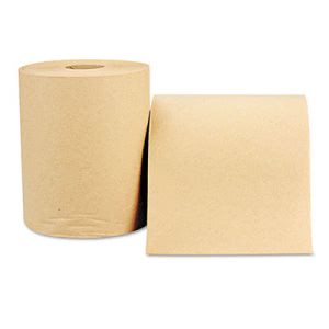 Windsoft 600' Non-Perforated Hard Roll Towels, Brown, 12 Rolls (WIN1180)